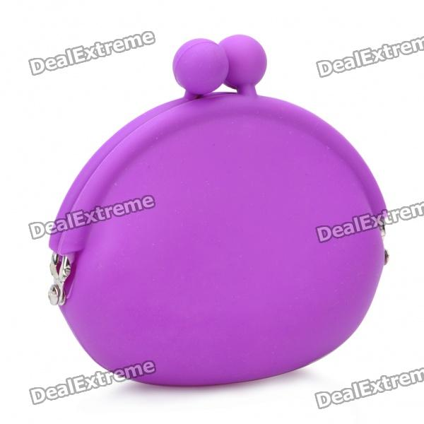 Mini Silicone Coins Purse - Purple