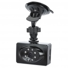 "2,0 ""-LCD 5,0 Megapixel Wide Angle 720P Night Vision Car DVR mit Mini USB / TF Slot - Schwarz"