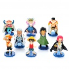 Cute One Piece Anime Figures Toys w/ Bases (8-Piece Set)