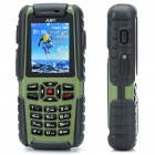 "A81 Ultra-Rugged Waterproof GSM Phone w/ 2.0"" LCD, Dual SIM, Quadband and Java - Green (512MB TF)"