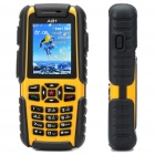 "A81 Ultra-Rugged Waterproof GSM Phone w / 2,0 ""LCD, Dual SIM, Quadband und Java - Gelb (512 TF)"