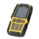 "A81 Ultra-Rugged Waterproof GSM Phone w/ 2.0"" LCD, Dual SIM, Quadband and Java - Yellow (512MB TF)"
