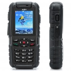 "A81 Ultra-Rugged Waterproof GSM Phone w / 2,0 ""LCD, Dual SIM, Quadband und Java - Schwarz (512 TF)"