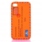 Creative Envelope Style Silicone Protective Case for Iphone 4 / 4S - Orange