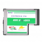 Express to USB 3.0 COMB & eSATA 54MM Expansion Card Adapter for Notebook (Max 5.0 Gpbs)