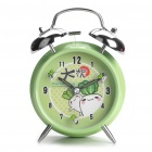 Daikonkun Pattern Twin Bells Alarm Clock w/ 1-LED Yellow Light Illumination (1 x AA)