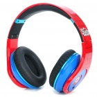 Designer's Spider-Man Folding Stereo Headphone - Red + Blue (2 x AAA)