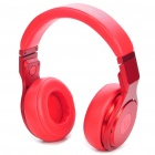Designer's Aluminum Alloy Folding Stereo Headphone - Red (3.5mm Jack)