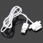 3-in-1 USB-Stecker an 30pin / Mini USB / Micro USB Stecker Ladekabel (90cm)