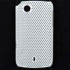 Mesh Protective PC Back Case for Lenovo A66T - White