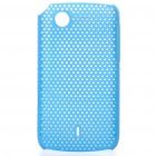 Mesh Protective PC Back Case for Lenovo A66T - Blue