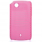 Mesh Protective PC Back Case for Lenovo A66T - Deep Pink