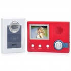 "2.4GHz Wireless Digital Video Door Phone System w/ 3.5"" Monitor / 6-LED 300KP CMOS Camera - Red"