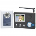 "2.4GHz Wireless Digital Video Door Phone System w/ 3.5"" Monitor / 6-LED 300KP CMOS Camera - Black"