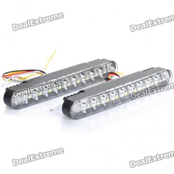 4W 6000K 360-Lumen 30-5050 SMD LED White Light Car Daytime Running Lamps (DC 12V / Pair) 2w 6000k 150 lumen 10x5050 smd led white light daytime running lamps for car pair dc 12v