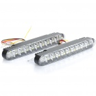 4W 6000K 360-Lumen 30-5050 SMD LED White Light Car Daytime Running Lamps (DC 12V / Pair)