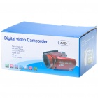 2.5&quot; LCD 5.0MP Digital Video Camcorder w/ 10X Digital Zoom / AV-Out / Mini USB - Red