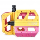 Crank Brothers 5050 Mountain Bike Pedals - Deep Pink + Golden (Pair)