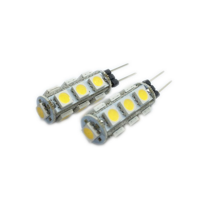 G4 2.6W 3000K 195-Lumen 13-5050 SMD LED Warm White Car Lamps (DC 12V / Pair)
