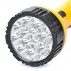 TGX-701 Rechargeable 2-Mode 12-LED White Light Flashlight - Yellow + Black (110~220V)