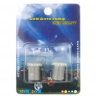 1157 1.5W 6000K 88-Lumen 22-3020 SMD LED White Light Car Brake Lamps (DC 12V / Pair)