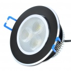 3.9W 3-LED 150LM 6000-7000K White Ceiling Light Lamp - Black (100-240V)