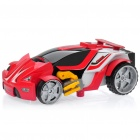 E502 R/C Racing Car Transformer w/ Sound Effect - Red + Black (5 x AA / 2 x AA)