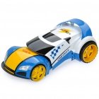 E503 R/C Racing Car Transformer w/ Sound Effect - Blue + White (5 x AA / 2 x AA)