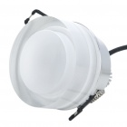 4W 3-LED Red Ceiling Light Lamp - Silver + Transparent White (100-240V)
