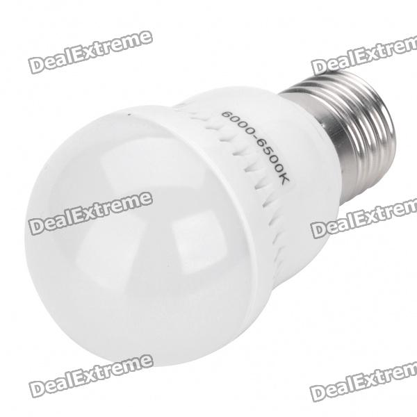 E27 3W 6500K 285LM 44-3528 SMD LED Cool White Light Bulb (AC 220V) fengyangdengshi 018 e27 3w 90lm 6500k white light 48 3528 smd led corn lamp white yellow 220v