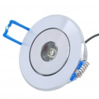 1.8W 1-LED 110LM 6000-7000K White Ceiling Light Lamp - Silver (100-240V)