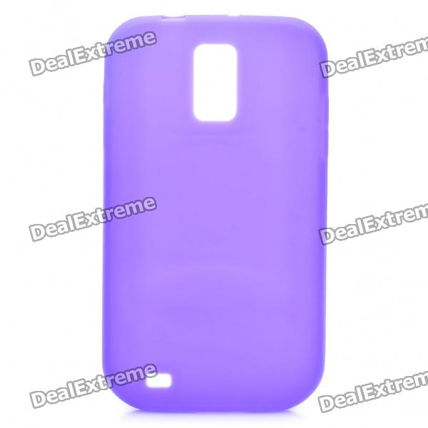 Protective Soft Silicone Case for Samsung Hercules T989 - Purple