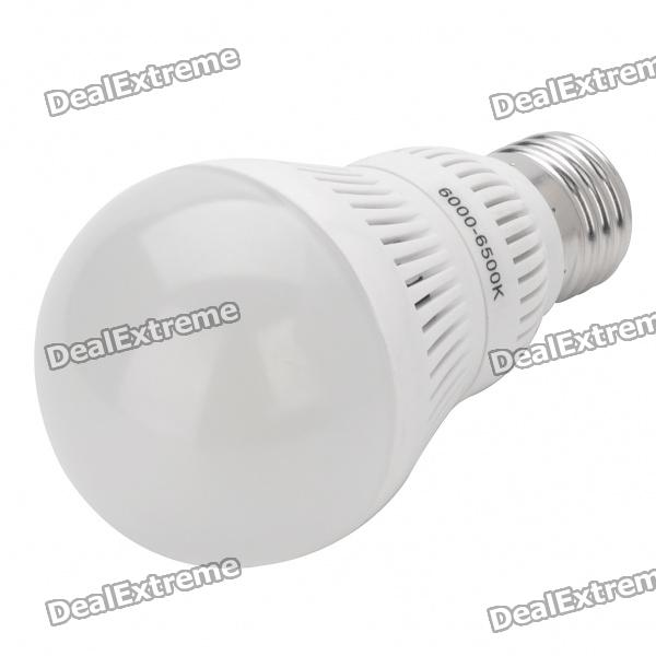 E27 5W 360LM 6000-6500K Cold White light 75-LED Bulb - White + Silver(220V)