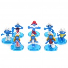 The Smurfs Figure Doll Toys Set with Base (8-Pack)