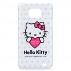Protective Nettes Hallo Kitty Pattern PC zurück Fall für Samsung Galaxy S2 i9100 - White + Deep Pink