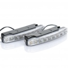 0.6W 9-LED White Light Car Auxiliary Lamps (Pair / DC 12V)