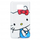 Nettes Hallo Kitty Pattern Protective PC Case für Samsung Galaxy S2 i9100 (White + Blau + Rot)