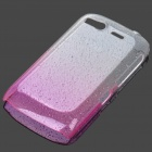 Stylish Gradient Water Drop Protective PE Back Case for HTC Desire S / G12 - Transparent Pink