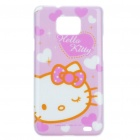 Protective Hallo Kitty Pattern PC Case für Samsung i9100 (Pink + White)