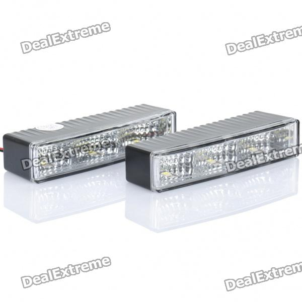 Car Multifunktions-1.8W 3-LED White Light Lamps (Pair / DC 12 ~ 24V)