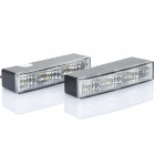 Car Multifunction 1.8W 3-LED White Light Lamps (Pair / DC 12~24V)