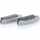 0.5W 6-LED White Light Car Daytime Running Lamps (DC 12V / Pair)