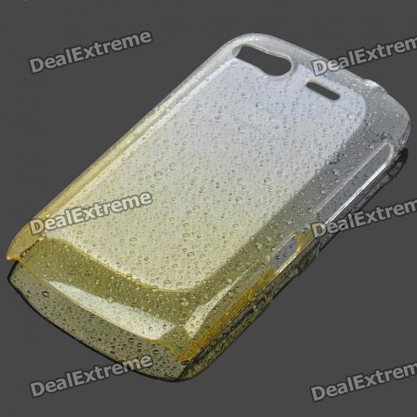 Stilvolle Gradient Water Drop Protective PE Tasche für HTC Desire S / G12 - Transparent Yellow