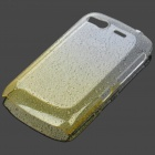 Stylish Gradient Water Drop Protective PE Back Case for HTC Desire S / G12 - Transparent Yellow