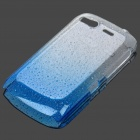 Stylish Gradient Water Drop Protective PE Back Case for HTC Desire S / G12 - Transparent Blue