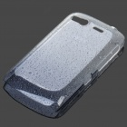 Stylish Gradient Water Drop Protective PE Back Case for HTC Desire S / G12 - Transparent Grey
