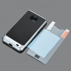 Stylish Protective PC + Silicone Case for Samsung Galaxy S2 i9100 - Silver + Black