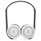 i91 Rechargeable Bluetooth V2.1=EDR MP3 Player Stereo Headset w/ FM / Microphone / TF - White