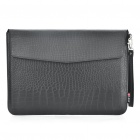 "Protective Crocodile Grain Pattern PU Leather Case Bag for MacBook Air 13.3"" Laptop Notebook - Black"