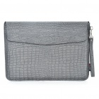 "Protective Crocodile Grain Pattern PU Leather Case Bag for MacBook Air 13.3"" Laptop Notebook - Grey"